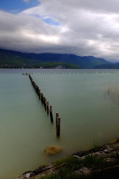 le lac d'Annecy à Sevrier