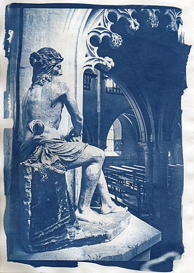 Cyanotype, Eglise de Flavigny sur Ozerain