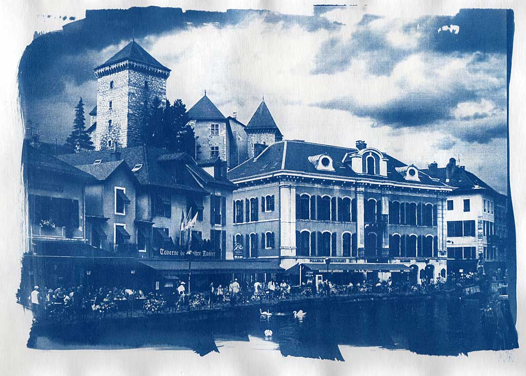 Cyanotype, Annecy, le canal du Thiou