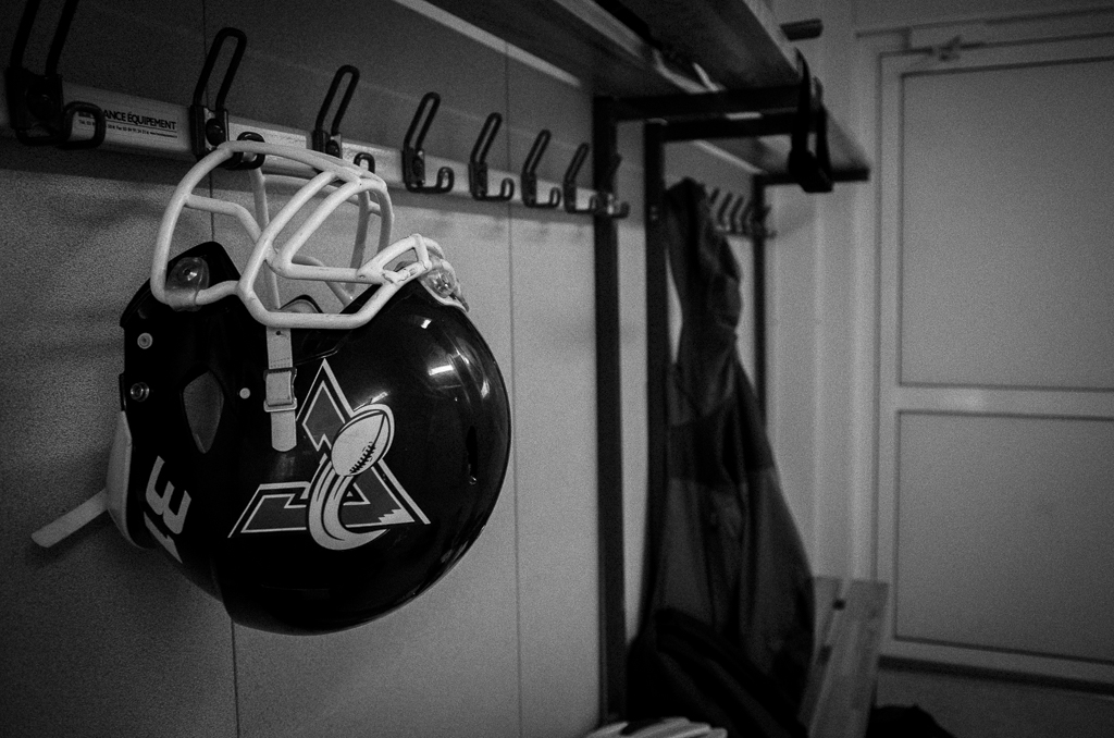Dans le vestiaire de l'équipe de Football Américain des Avalanches