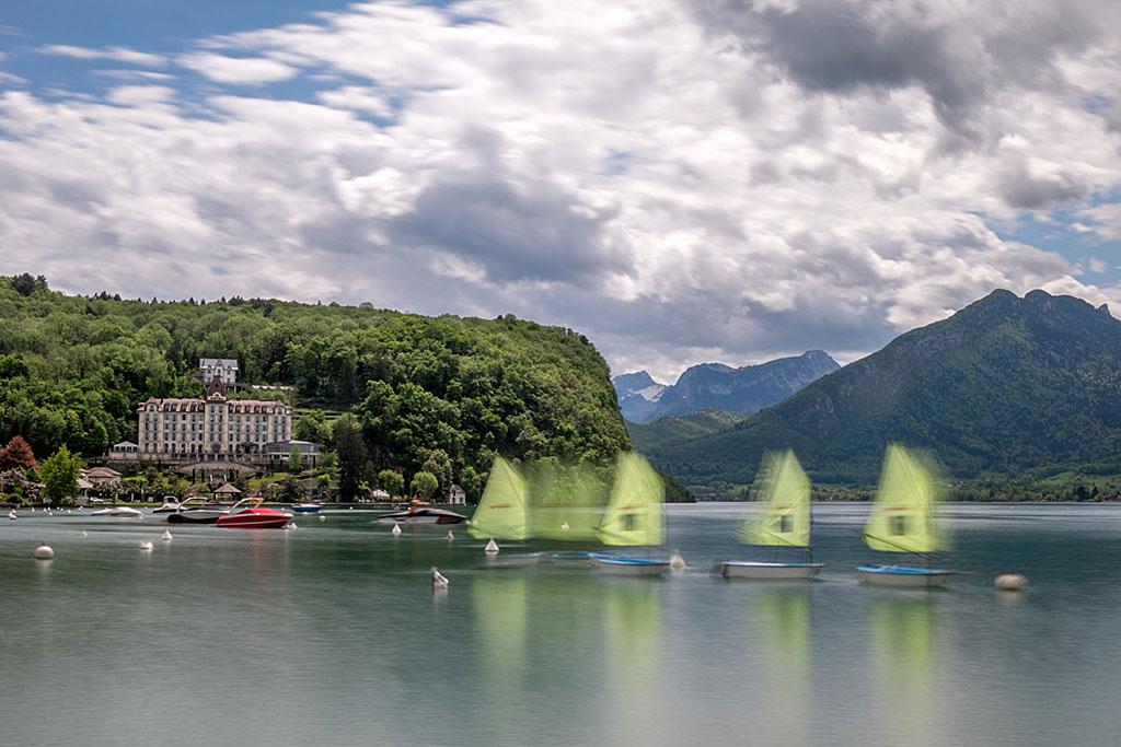 Ecole de voile, Menthon Saint Bernard, Lac d'Annecy