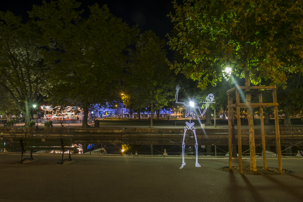 Light painting à Annecy
