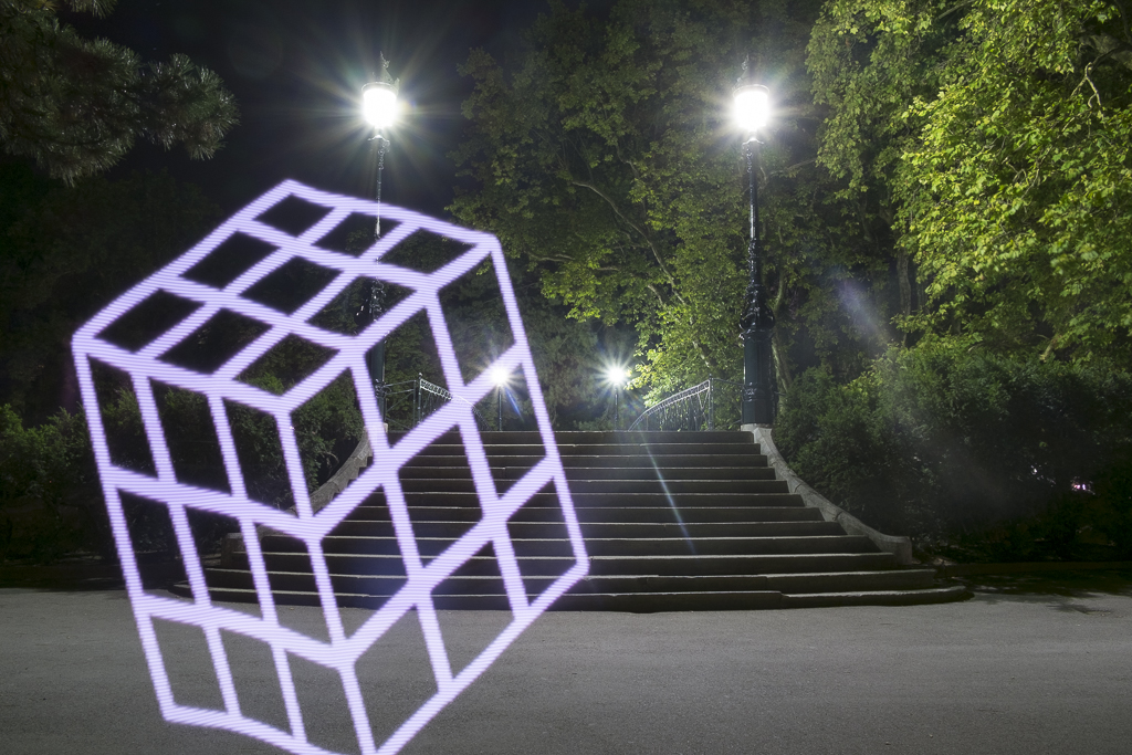 Le cube. Lightpainting