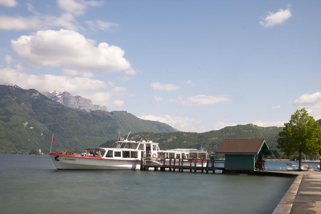 Embarquement à bord de L'Allobroge, Saint Jorioz, lac d'Annecy