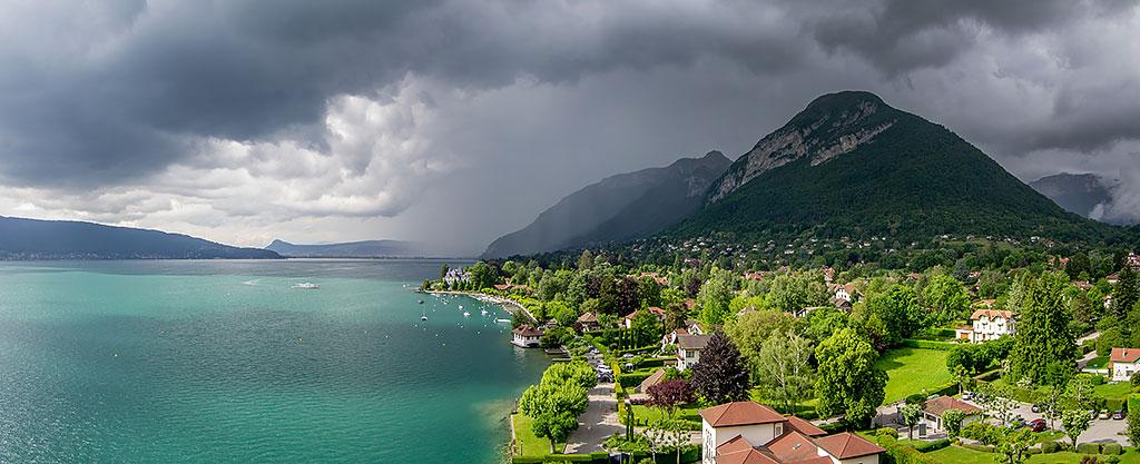 Menthon Saint Bernard, Orage sur le lac d'Annecy
